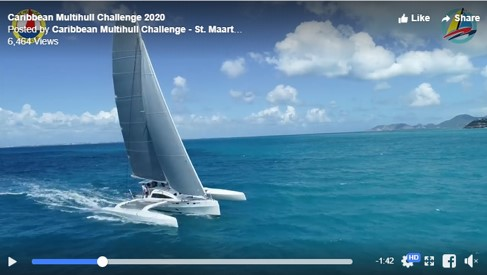 Rapido 60 shines in promo video for Caribbean Multihull Challenge 2020