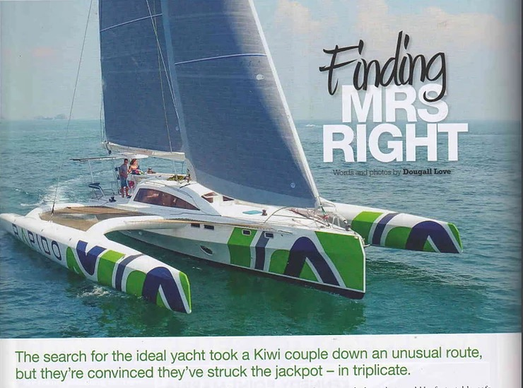 """Finding Mrs Right"" as Romanza prepares for two regattas in Australia"