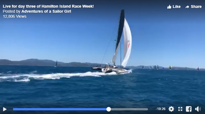 Video: Live footage of Romanza at Hamilton Island Race Week