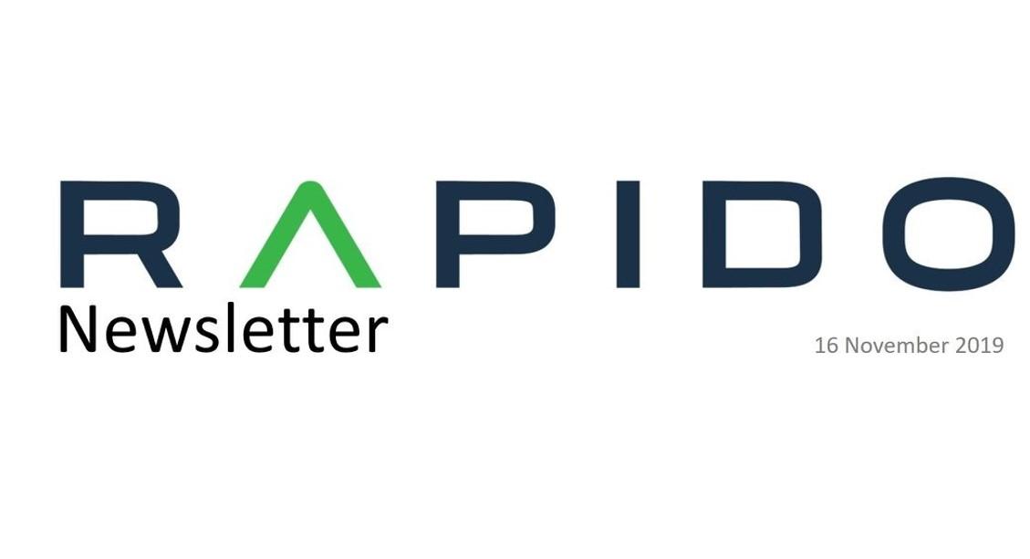 Rapido Newsletter, November 2019