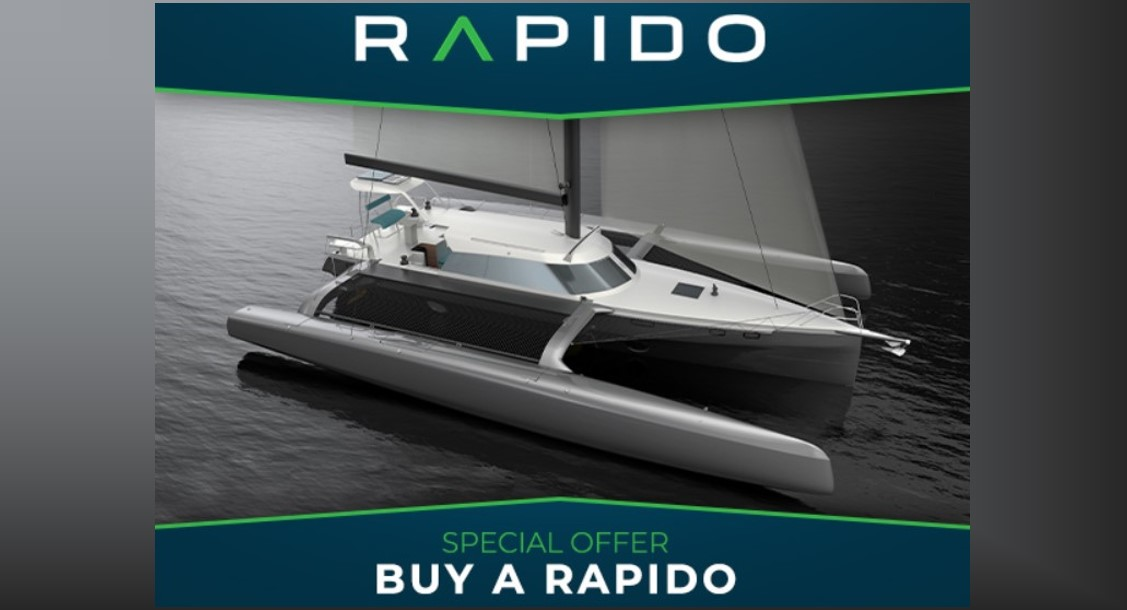 Free carbon upgrade – or watch the America's Cup 2021 from your new Rapido Trimaran!