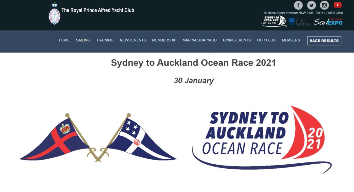 Sydney to Auckland Ocean Race 2021 (30 January)