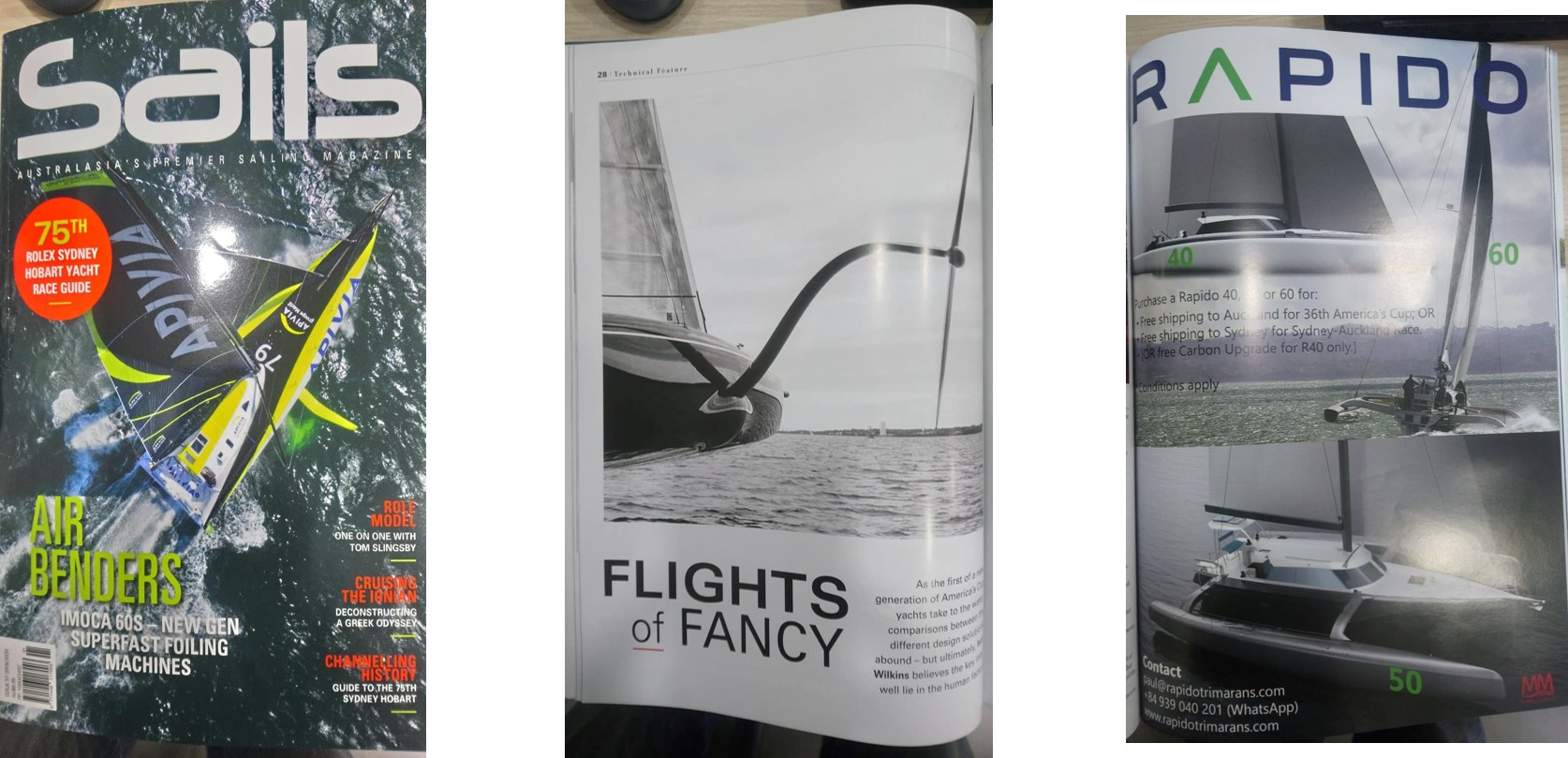 Sails Australia magazine, America's Cup and Rapido specials