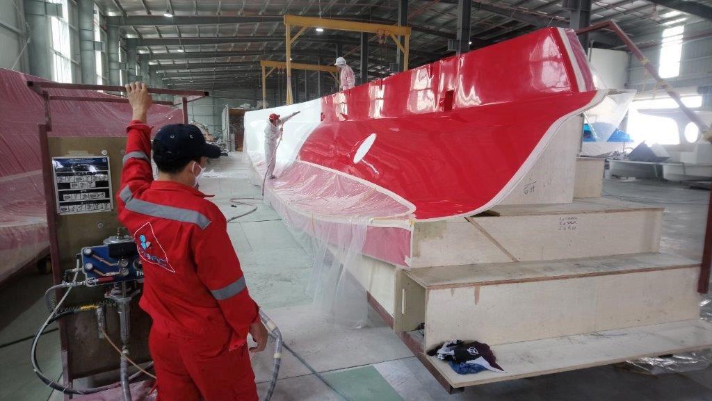 Rapido 50 hull, gelcoat