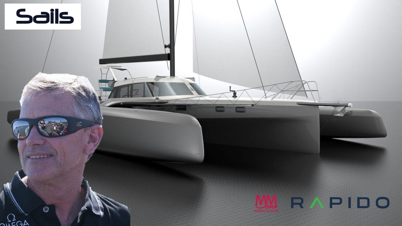 Pete Melvin, designer of Rapidos, interviewed in Sails Magazine